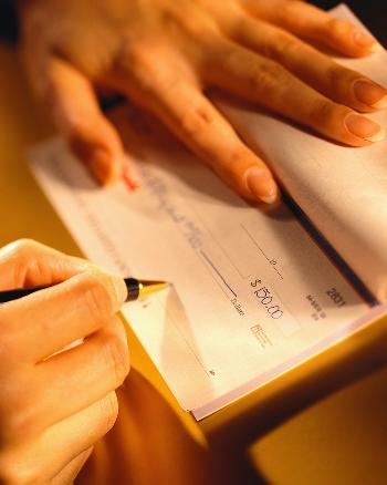charity-check-writing